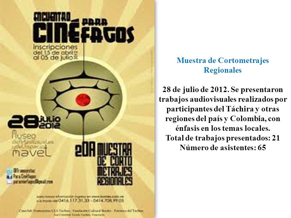 Muestra de Cortometrajes Regionales 28 de julio de 2012.