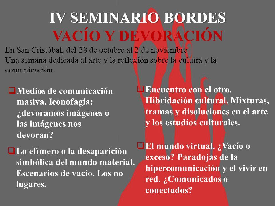 En San Cristóbal, del 28 de octubre al 2 de noviembre Una semana dedicada al arte y la reflexión sobre la cultura y la comunicación.
