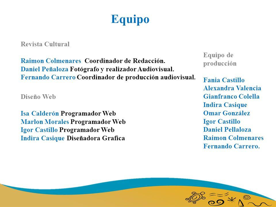 Revista Cultural Raimon Colmenares Coordinador de Redacción.