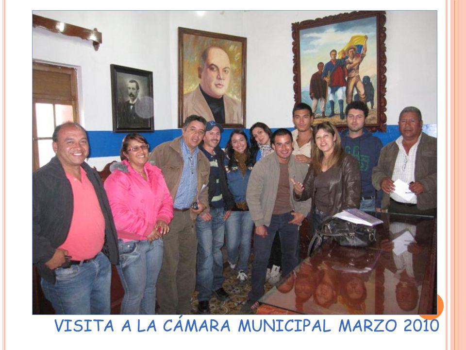VISITA A LA CÁMARA MUNICIPAL MARZO 2010