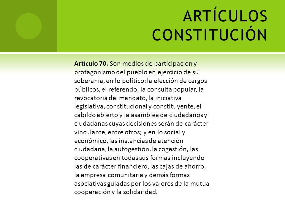 LOS CAMBIOS EN LA CONSTITUCIÓN