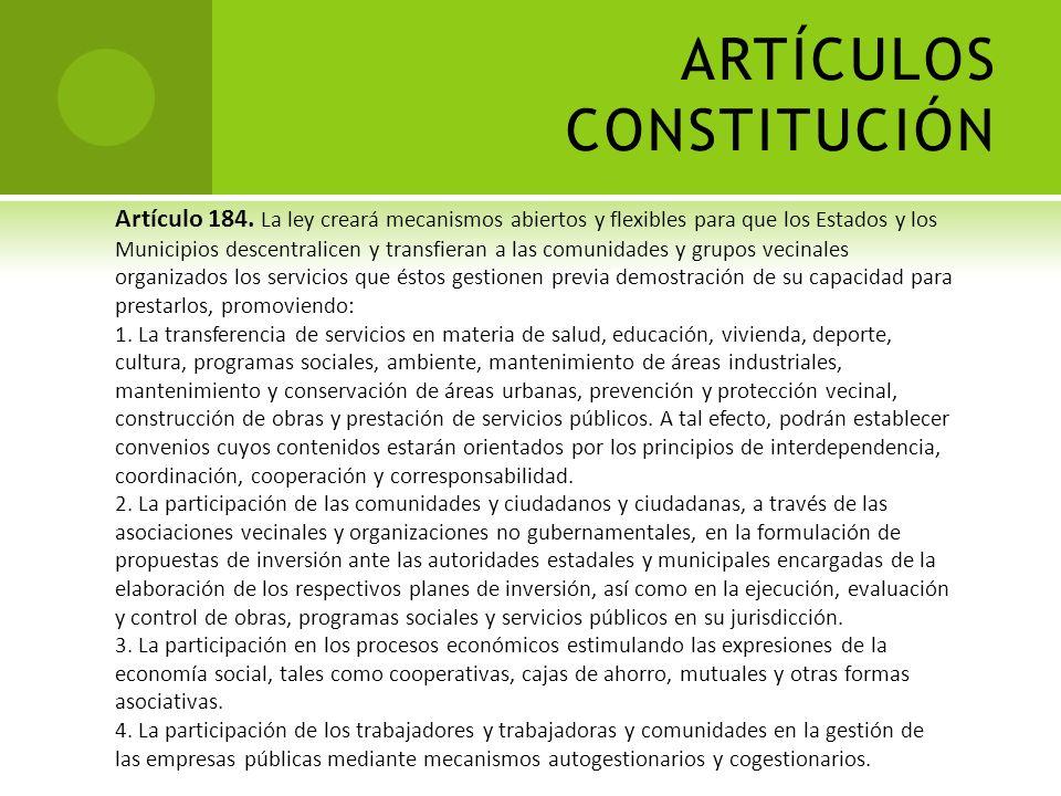ARTÍCULOS CONSTITUCIÓN Artículo 118. Se reconoce el derecho de los trabajadores y de la comunidad para desarrollar asociaciones de carácter social y p