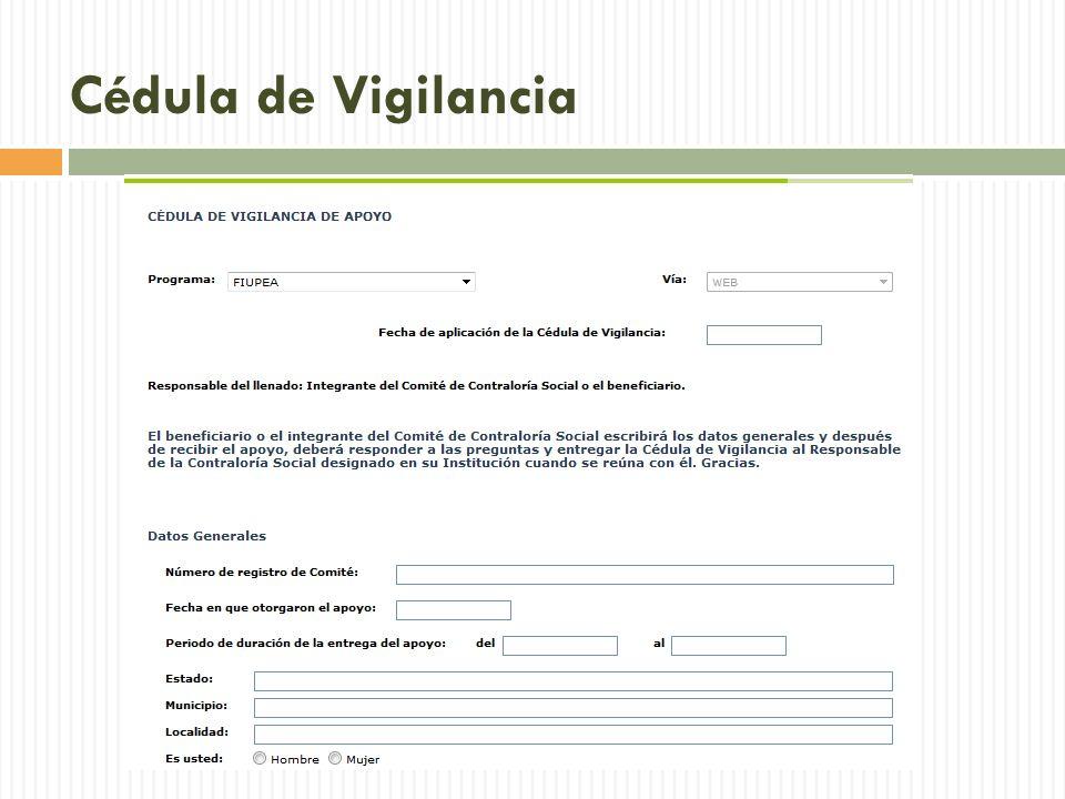 Cédula de Vigilancia