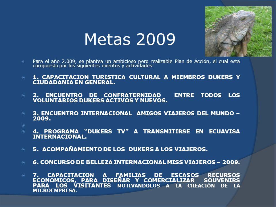 Metas 2009 Para el año 2.009, se plantea un ambicioso pero realizable Plan de Acción, el cual está compuesto por los siguientes eventos y actividades: