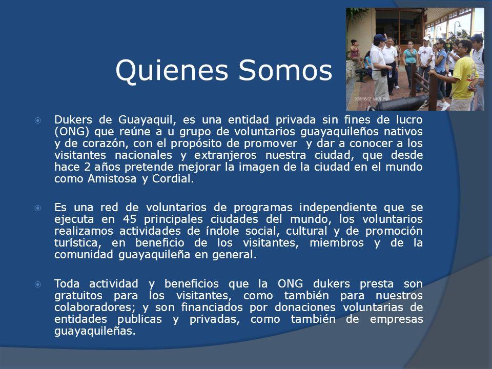 Quienes Somos Dukers de Guayaquil, es una entidad privada sin fines de lucro (ONG) que reúne a u grupo de voluntarios guayaquileños nativos y de coraz