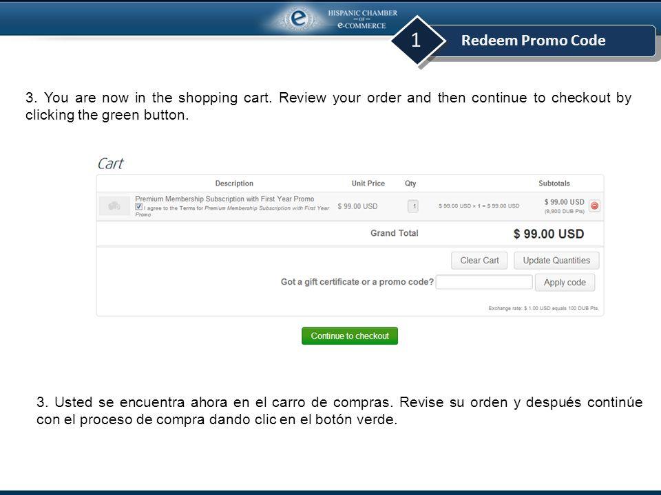 Redeem Promo Code 1 4.Congratulations. You are now a Premium Member.