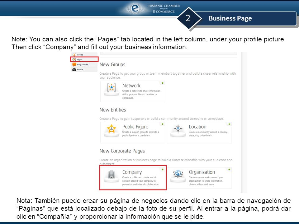 Business Page 2 2.You can learn more about business pages before you decide to create one.