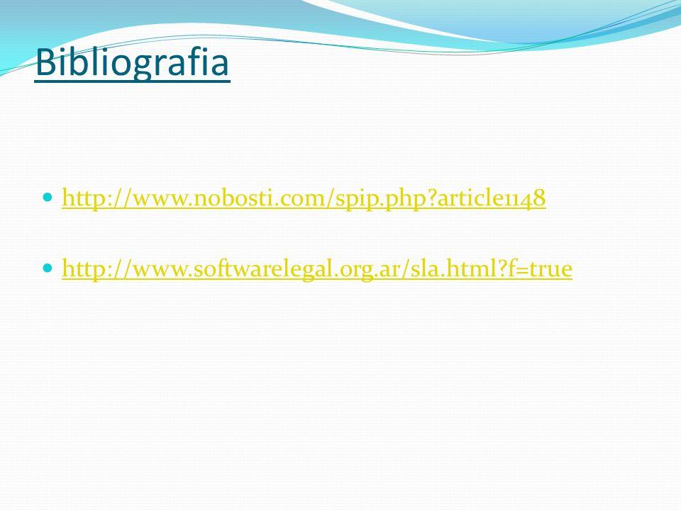 Bibliografia http://www.nobosti.com/spip.php?article1148 http://www.softwarelegal.org.ar/sla.html?f=true