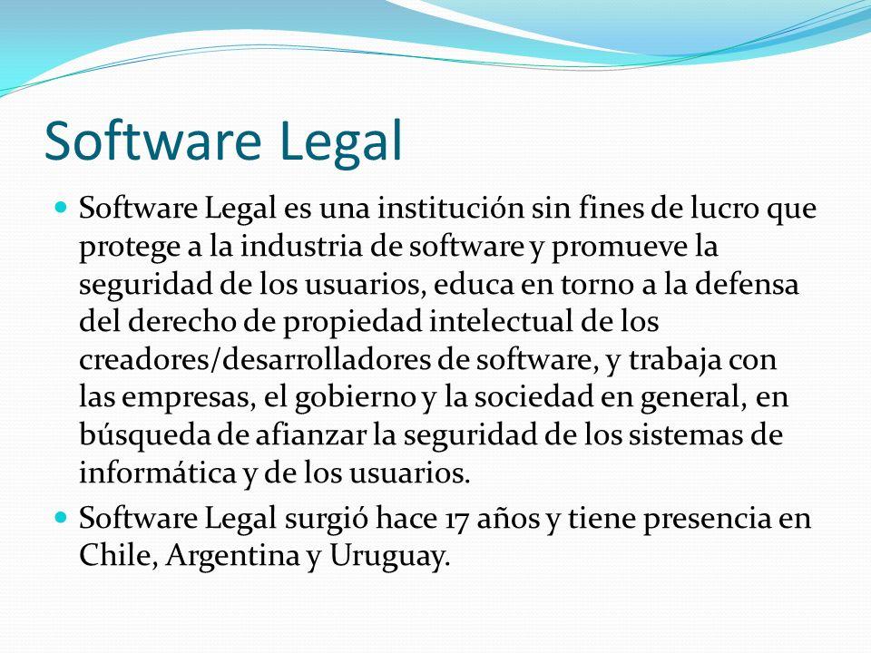 Software Legal Software Legal es una institución sin fines de lucro que protege a la industria de software y promueve la seguridad de los usuarios, ed