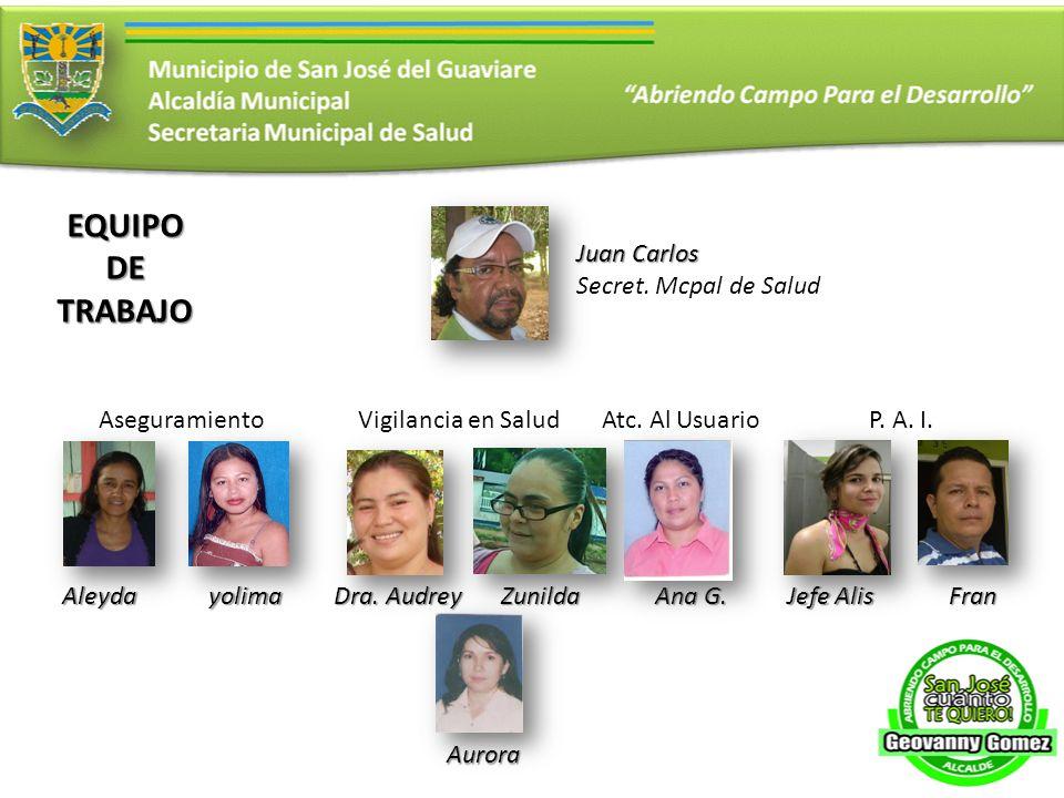 Juan Carlos Secret.Mcpal de Salud Aseguramiento Aleydayolima Vigilancia en Salud Dra.