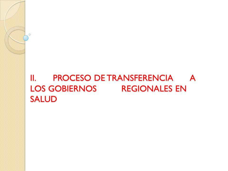 PLAN DE TRANSFERENCIA DE MEDIANO PLAZO EN SALUD FUNCIONES FACULTADES Total 20052006200720082009 a.
