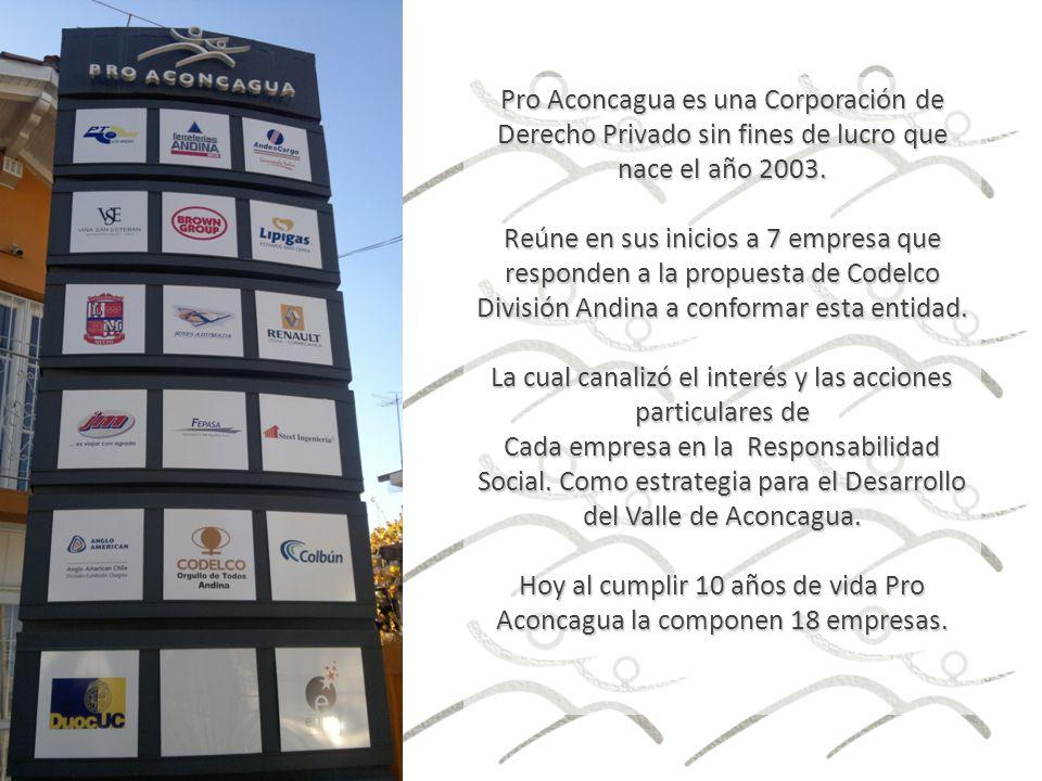 Pro Aconcagua es una Corporación de Derecho Privado sin fines de lucro que nace el año 2003.