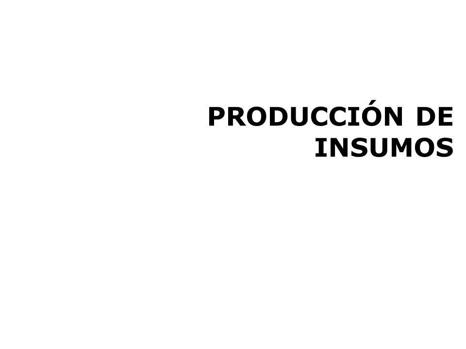 PRODUCCIÓN DE INSUMOS