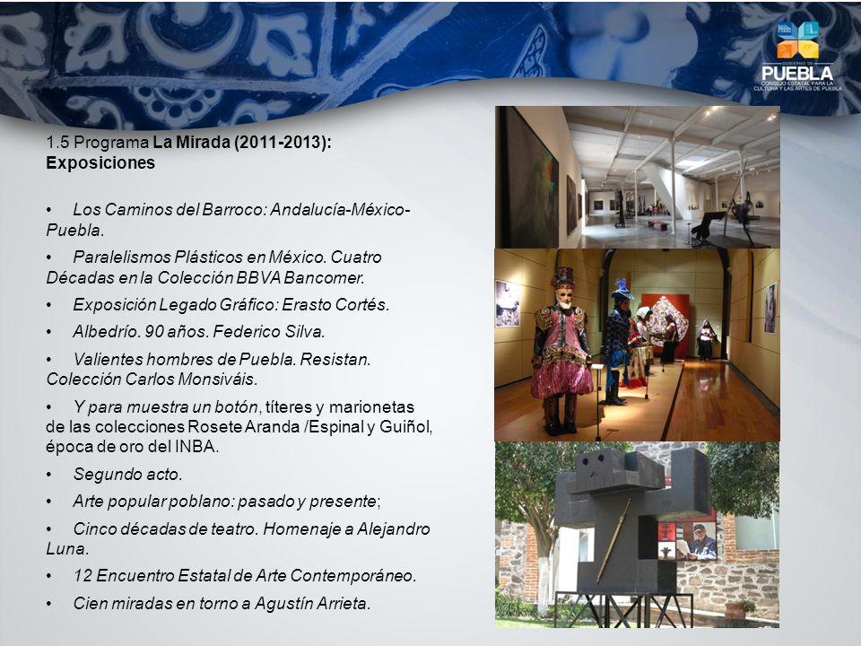 1.5 Programa La Mirada (2011-2013): Exposiciones Los Caminos del Barroco: Andalucía-México- Puebla. Paralelismos Plásticos en México. Cuatro Décadas e