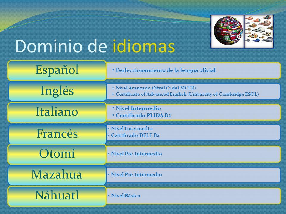 1er2o3o4o5o MARCOS REFERENCIALES DE LA EDUCACIÓN FUNDAMENTOS DE LA ADQUISICIÓN DEL LENGUAJE METODOLOGÍA DE LA ENSEÑANZA DE IDIOMAS DIDÁCTICA DE LAS HABILIDADES RECEPTIVAS DIDÁCTICA DE LAS HABILIDADES PRODUCTIVAS BASES DE LA LINGÜÍSTICA LINGÜÍSTICA APLICADA PSICOLOGÍA DE INDIVIDUOS Y GRUPOS ETARIOS ÉTICA PROFESIONAL METODOLOGÍA DE LA INVESTIGACIÓN CUANTITATIVA COMPRENSIÓN Y PRODUCCIÓN DEL ESPAÑOL ESPAÑOL PARA PROPÓSITOS ACADÉMICOS FONÉTICA Y FONOLOGÍA MORFOSINTÁXIS GRAMÁTICA COMPARATIVA INGLÉS IINGLÉS IIINGLÉS III INGLÉS IV INGLÉS V ITALIANO IITALIANO IIITALIANO IIIFRANCÉS IFRANCÉS II TICS COMO HERRAMIENTA DE APRENDIZAJE *** TICS COMO HERRAMIENTA PEDAGÓGICA ADMINISTRACIÓN EDUCATIVA GESTIÓN Y CALIDAD DE LA EDUCACIÓN *** INTEGRACIÓN DEL MUNDO SOCIEDAD Y CULTURA DE AMÉRCA DEL NORTE SOCIEDAD Y CULTURA DE LA UNIÓN EUROPEA SOCIEDAD Y CULTURA MEXICANAS