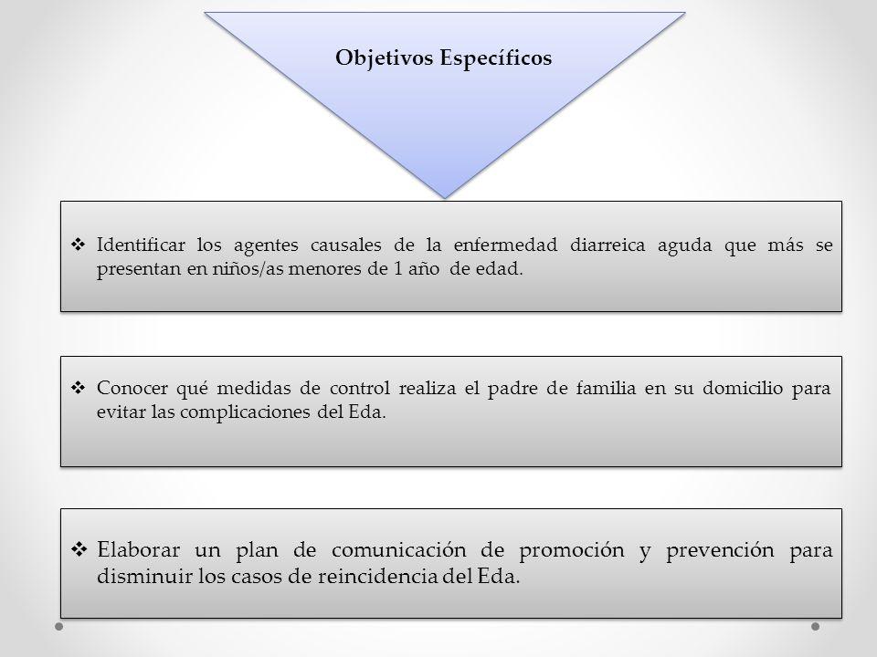 Elaborar un plan de comunicación de promoción y prevención para disminuir los casos de reincidencia del Eda. Conocer qué medidas de control realiza el