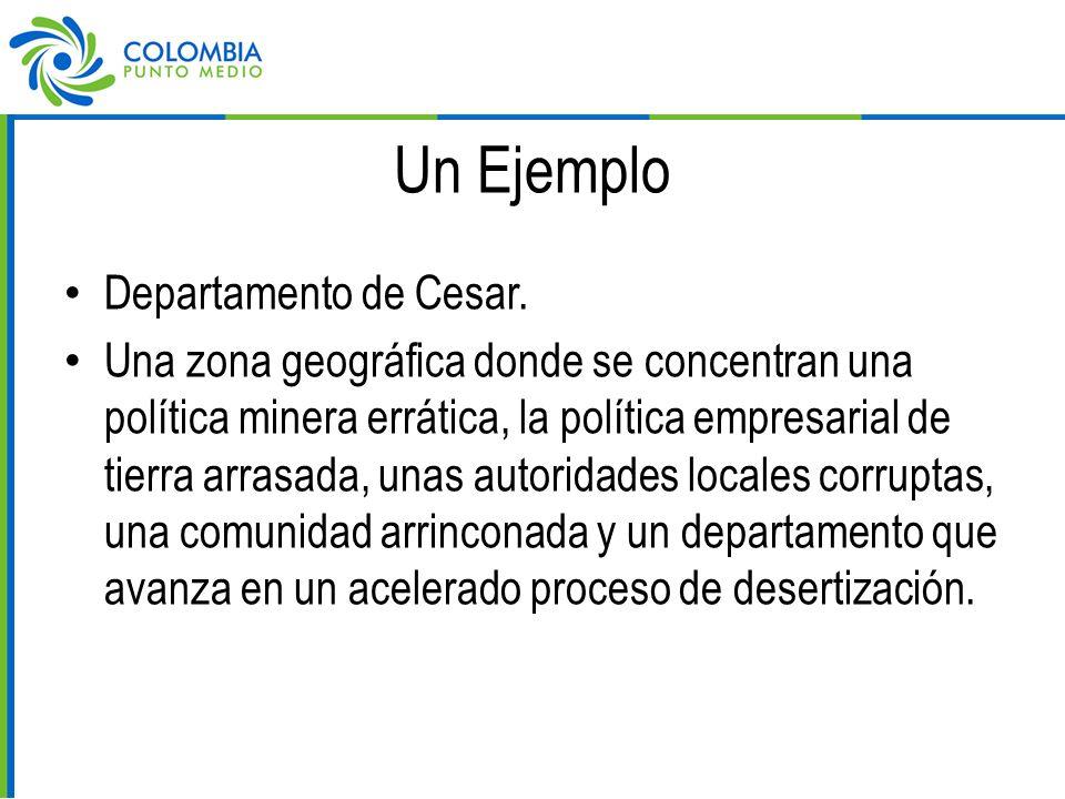 Un Ejemplo Departamento de Cesar.
