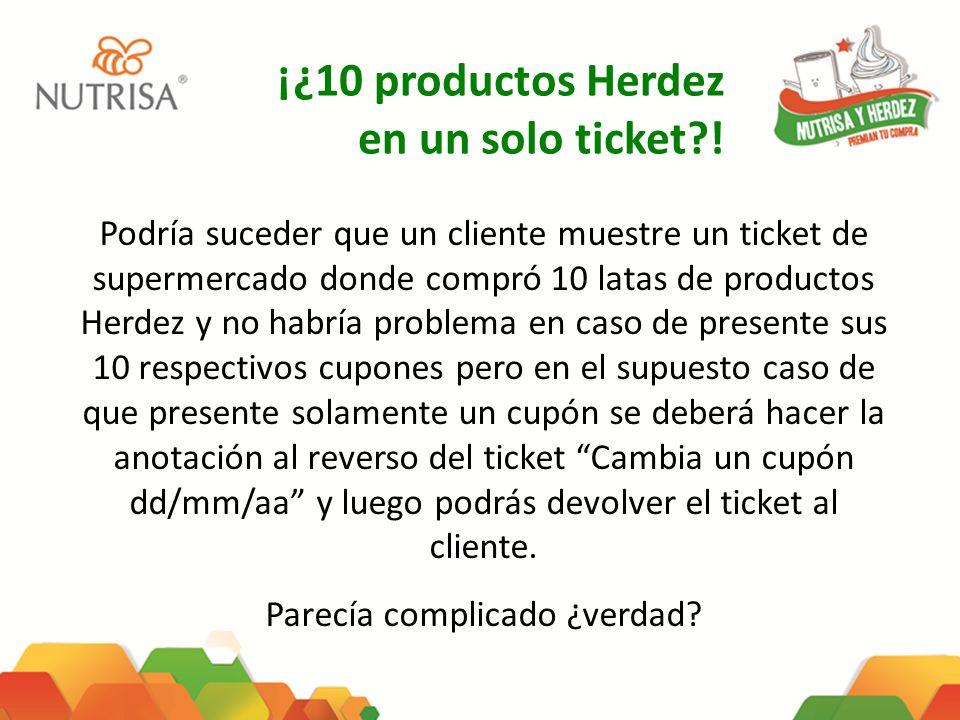 ¡¿10 productos Herdez en un solo ticket?! Podría suceder que un cliente muestre un ticket de supermercado donde compró 10 latas de productos Herdez y