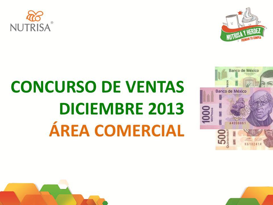 CONCURSO DE VENTAS DICIEMBRE 2013 ÁREA COMERCIAL