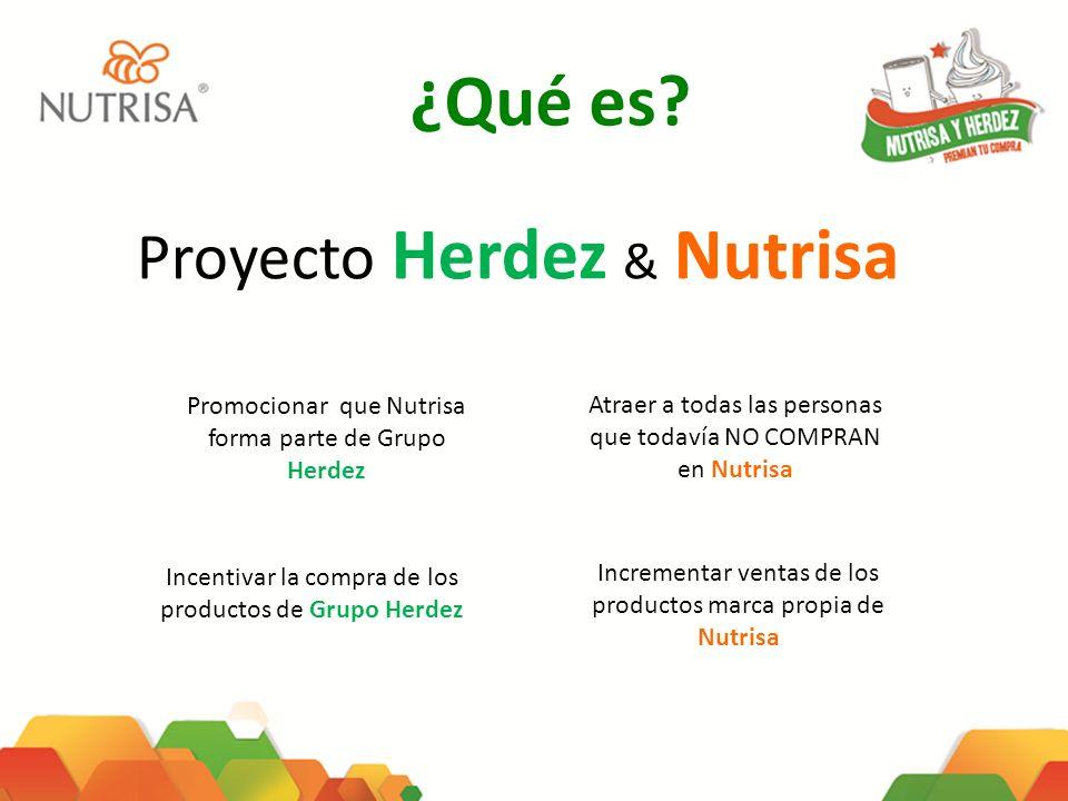 ¿Qué es? Promocionar que Nutrisa forma parte de Grupo Herdez Incentivar la compra de los productos de Grupo Herdez Atraer a todas las personas que tod