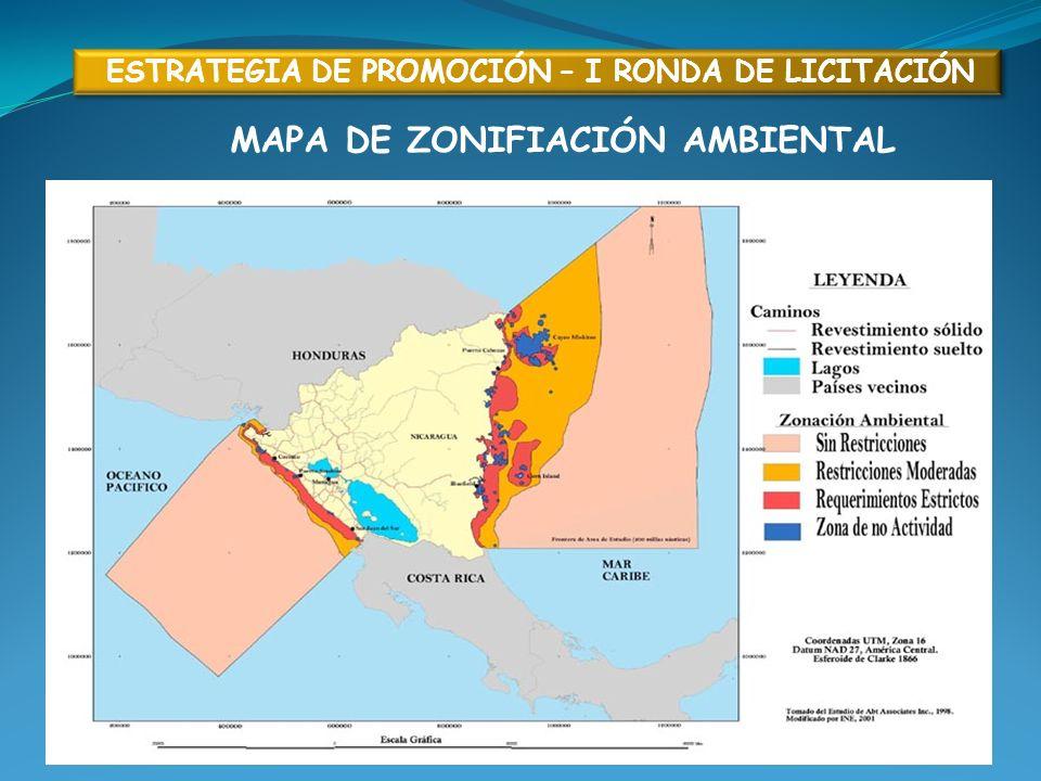 MAPA DE ZONIFIACIÓN AMBIENTAL ESTRATEGIA DE PROMOCIÓN – I RONDA DE LICITACIÓN