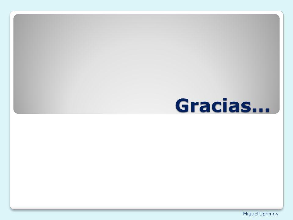 Miguel Uprimny Gracias…
