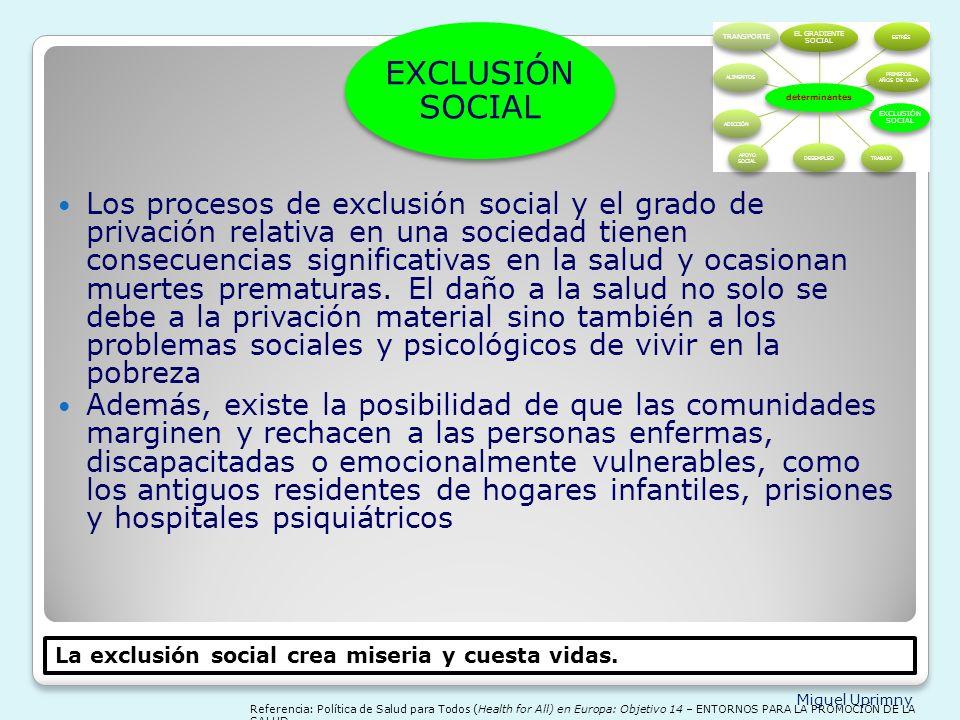 Miguel Uprimny determinantes EL GRADIENTE SOCIAL ESTRÉS PRIMEROS AÑOS DE VIDA EXCLUSIÓN SOCIAL TRABAJODESEMPLEO APOYO SOCIAL ADICCIÓNALIMENTOS TRANSPO