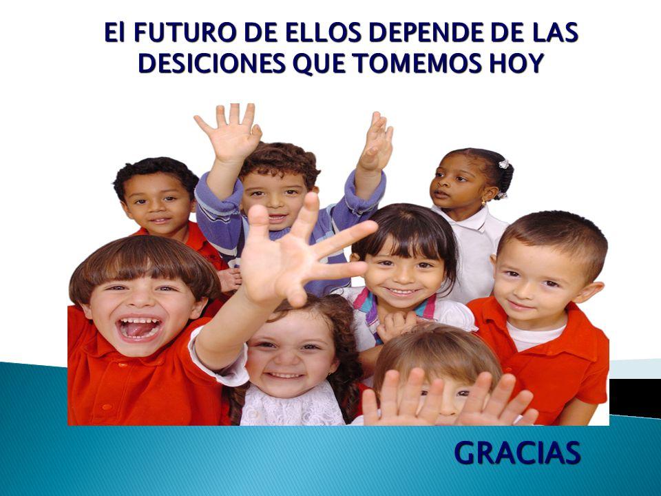 El FUTURO DE ELLOS DEPENDE DE LAS DESICIONES QUE TOMEMOS HOY GRACIAS