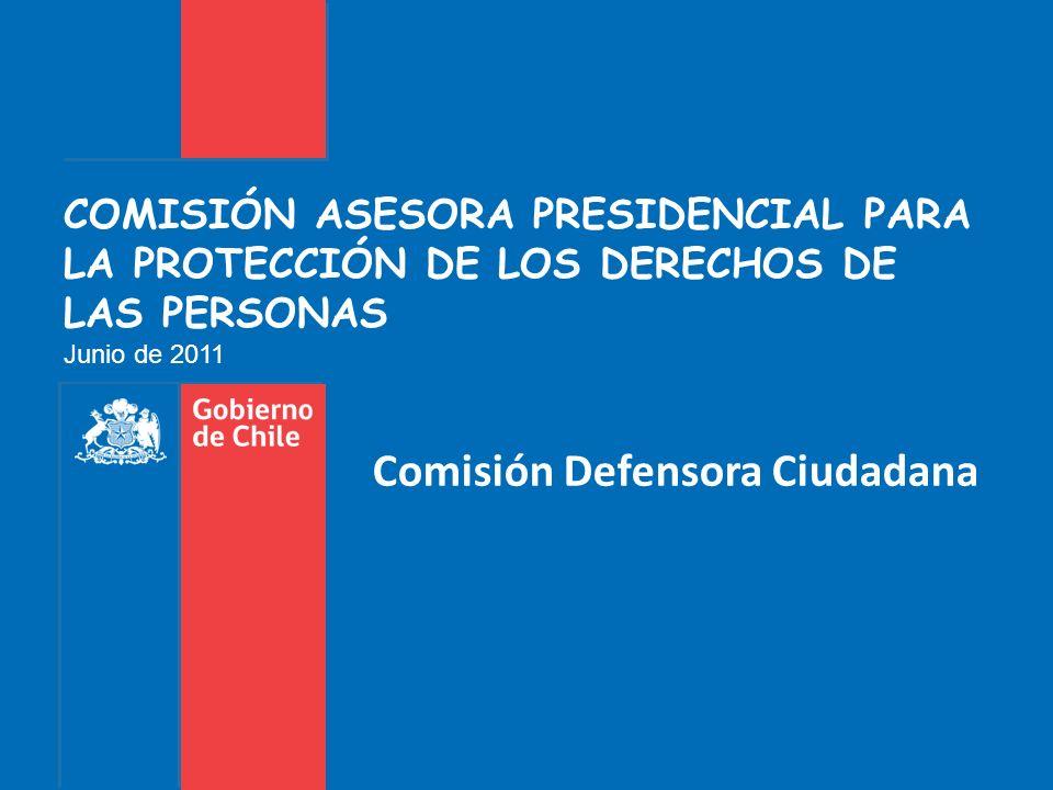 COMISIÓN ASESORA PRESIDENCIAL PARA LA PROTECCIÓN DE LOS DERECHOS DE LAS PERSONAS Junio de 2011 Comisión Defensora Ciudadana