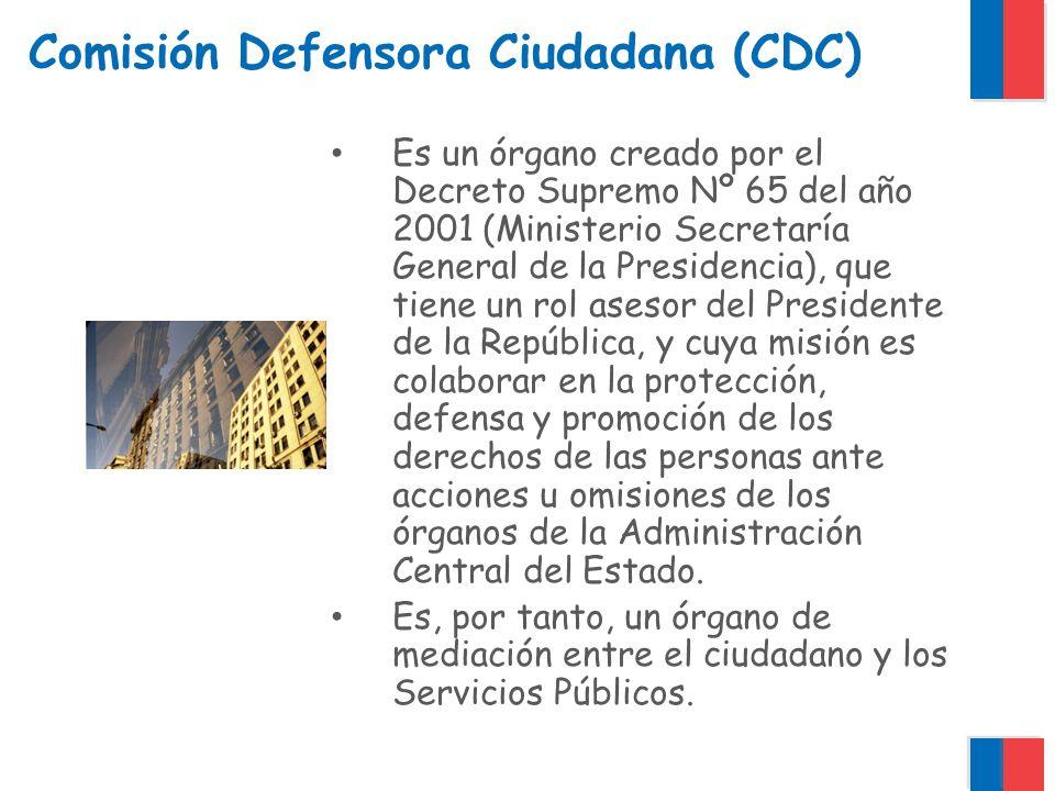Comisión Defensora Ciudadana (CDC) Sus miembros: Alberto Precht (Presidente) Federico Joannon (Organizaciones de consumidores) Jeannette Soto (Rep.