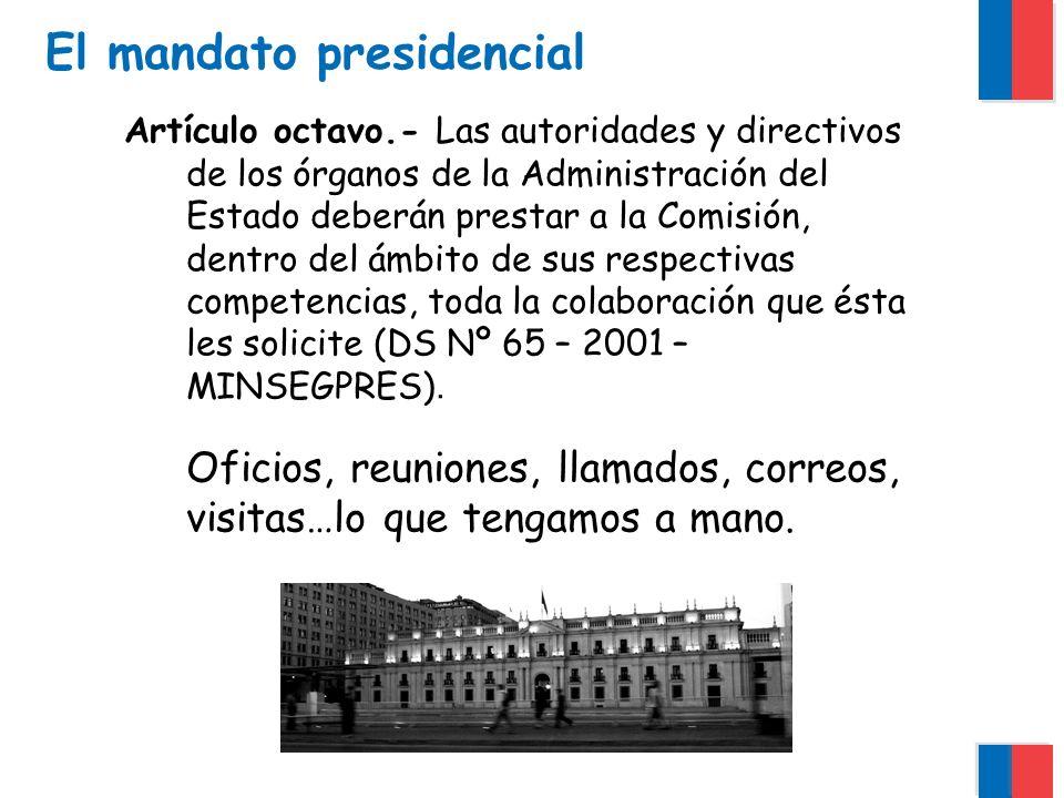 Qué hacemos… Observar y estudiar la actividad que desarrollan los órganos del Estado frente a los ciudadanos e informa de ello al Presidente de la República.
