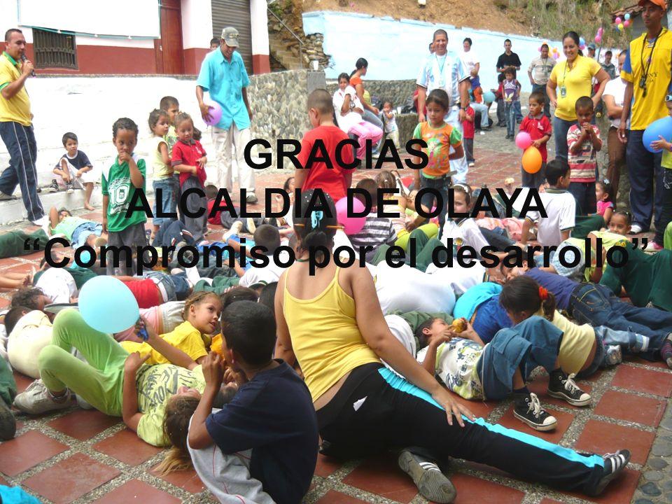 GRACIAS ALCALDIA DE OLAYA Compromiso por el desarrollo