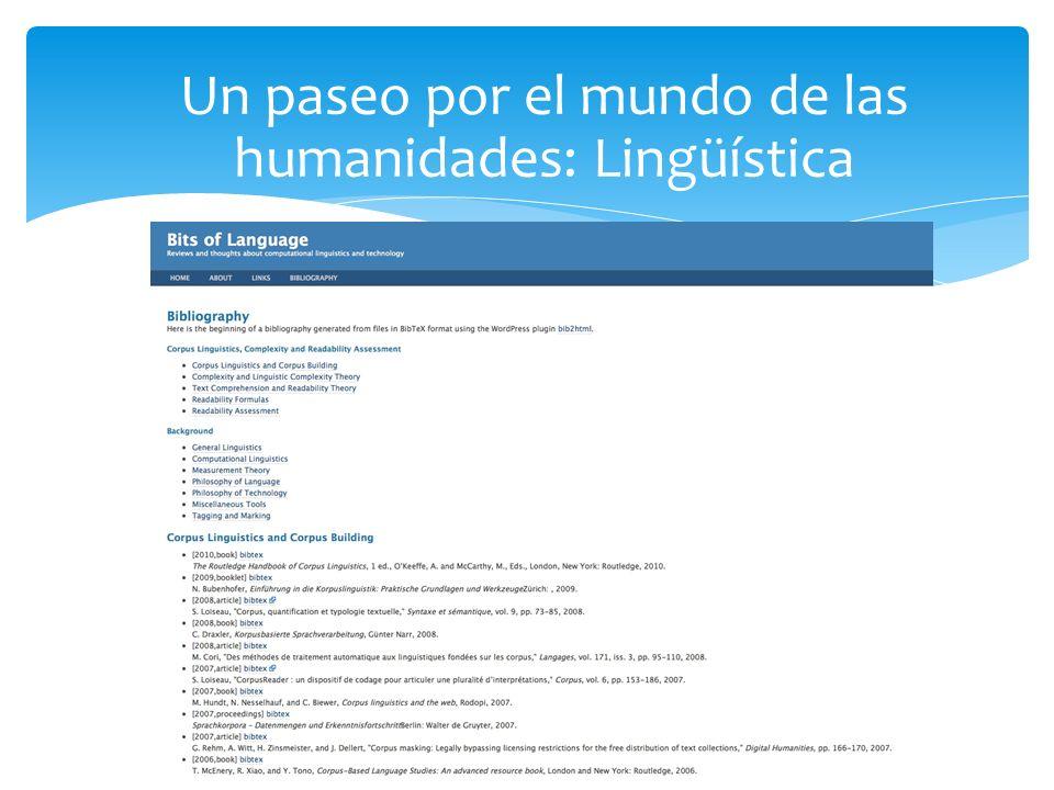 Un paseo por el mundo de las humanidades: Lingüística