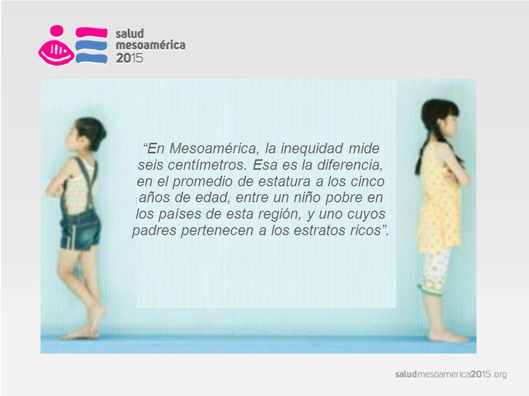 En Mesoamérica, la inequidad mide seis centímetros.
