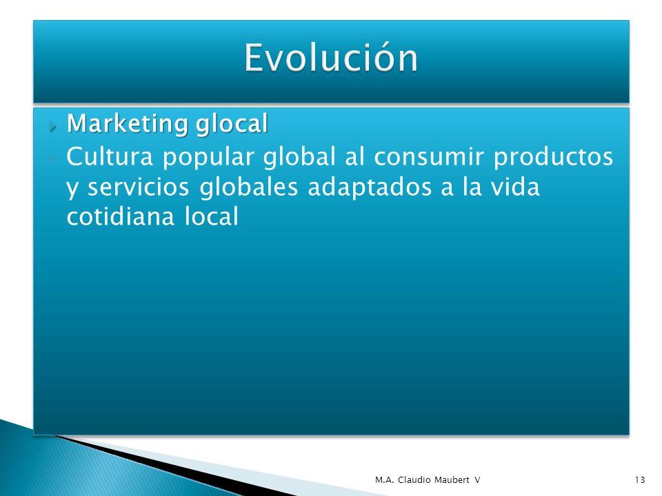 Marketing glocal Marketing glocal Cultura popular global al consumir productos y servicios globales adaptados a la vida cotidiana local Marketing gloc