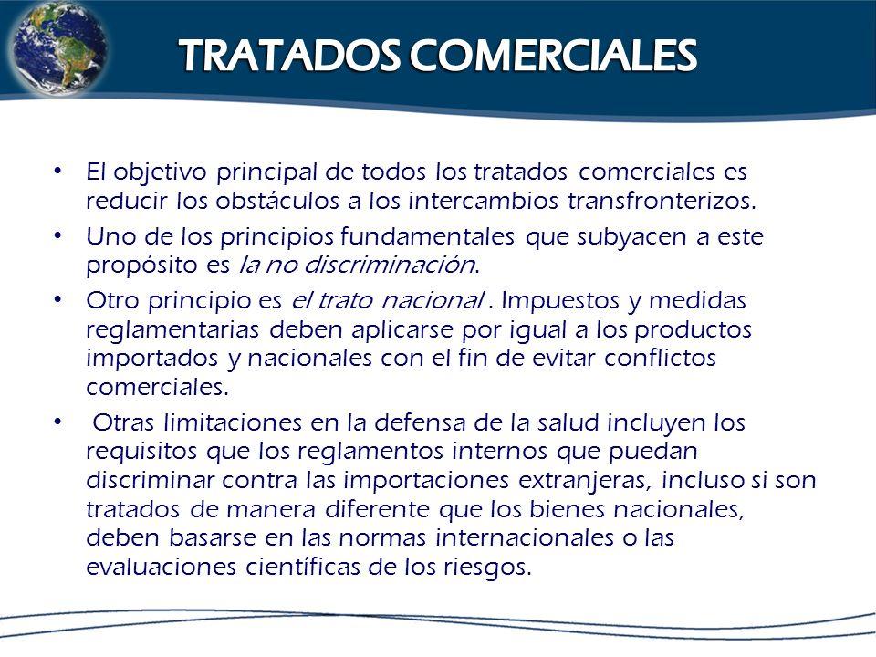 El objetivo principal de todos los tratados comerciales es reducir los obstáculos a los intercambios transfronterizos. Uno de los principios fundament