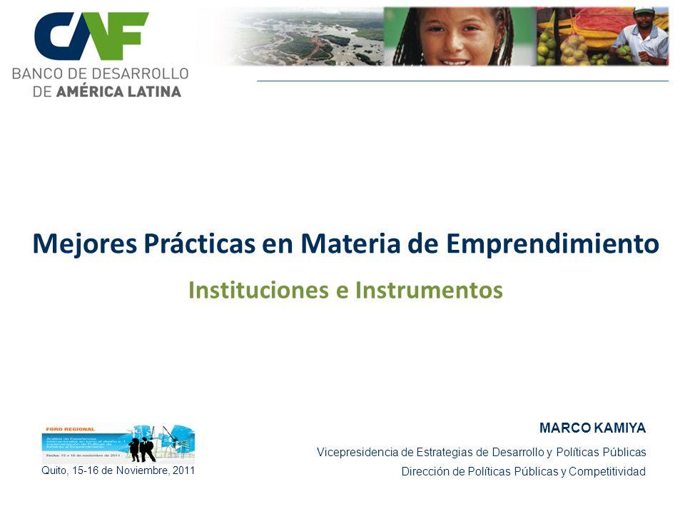 MARCO KAMIYA Vicepresidencia de Estrategias de Desarrollo y Políticas Públicas Dirección de Políticas Públicas y Competitividad Mejores Prácticas en M