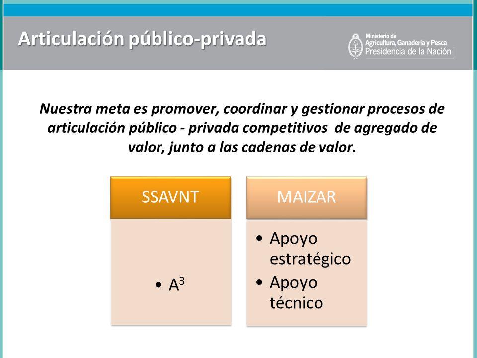 Articulación público-privada Nuestra meta es promover, coordinar y gestionar procesos de articulación público - privada competitivos de agregado de va
