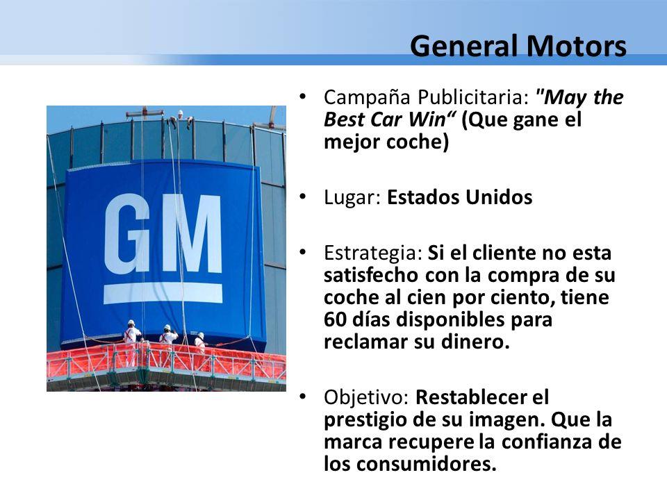 General Motors Campaña Publicitaria: