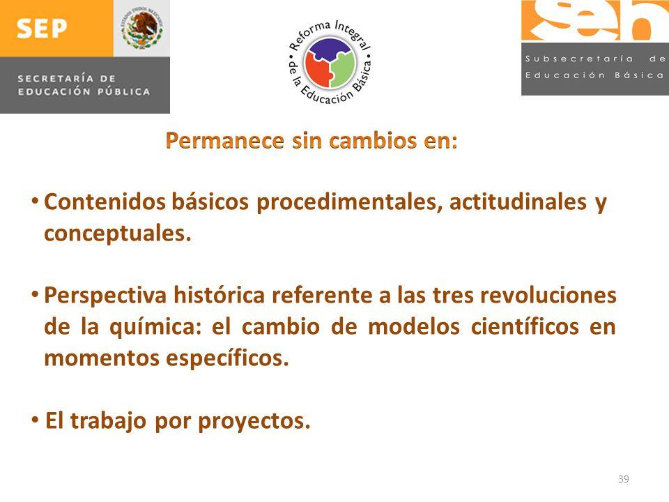 39 Contenidos básicos procedimentales, actitudinales y conceptuales.