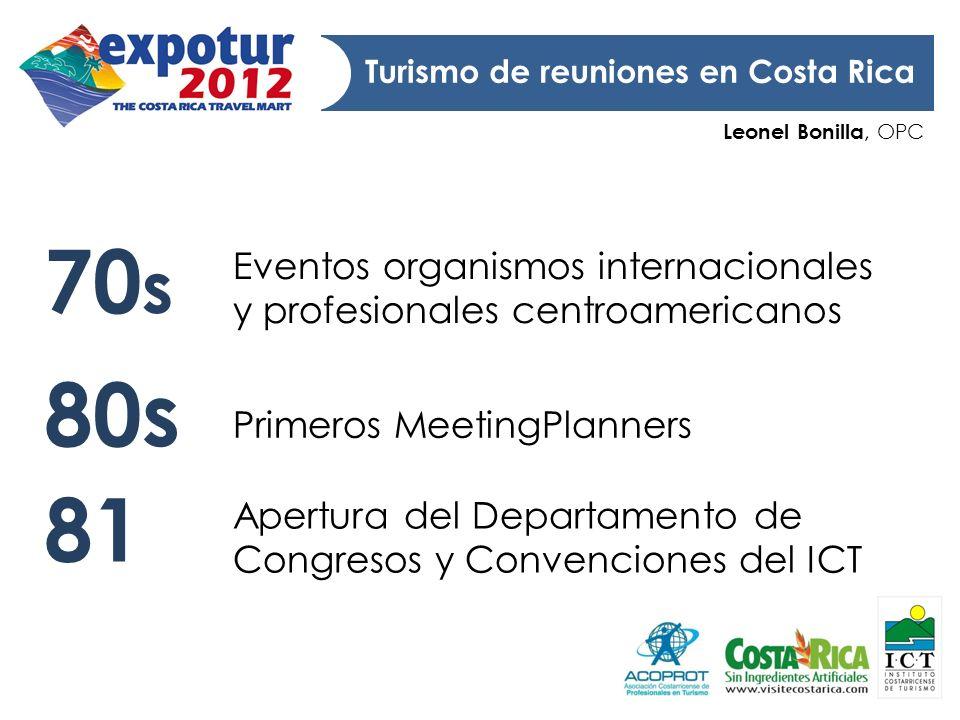 Leonel Bonilla, OPC Turismo de reuniones en Costa Rica Eventos organismos internacionales y profesionales centroamericanos Apertura del Departamento d