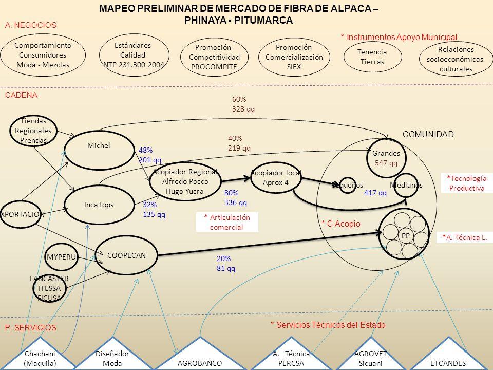 Comportamiento Consumidores Moda - Mezclas Estándares Calidad NTP 231.300 2004 Promoción Comercialización SIEX Relaciones socioeconómicas culturales P