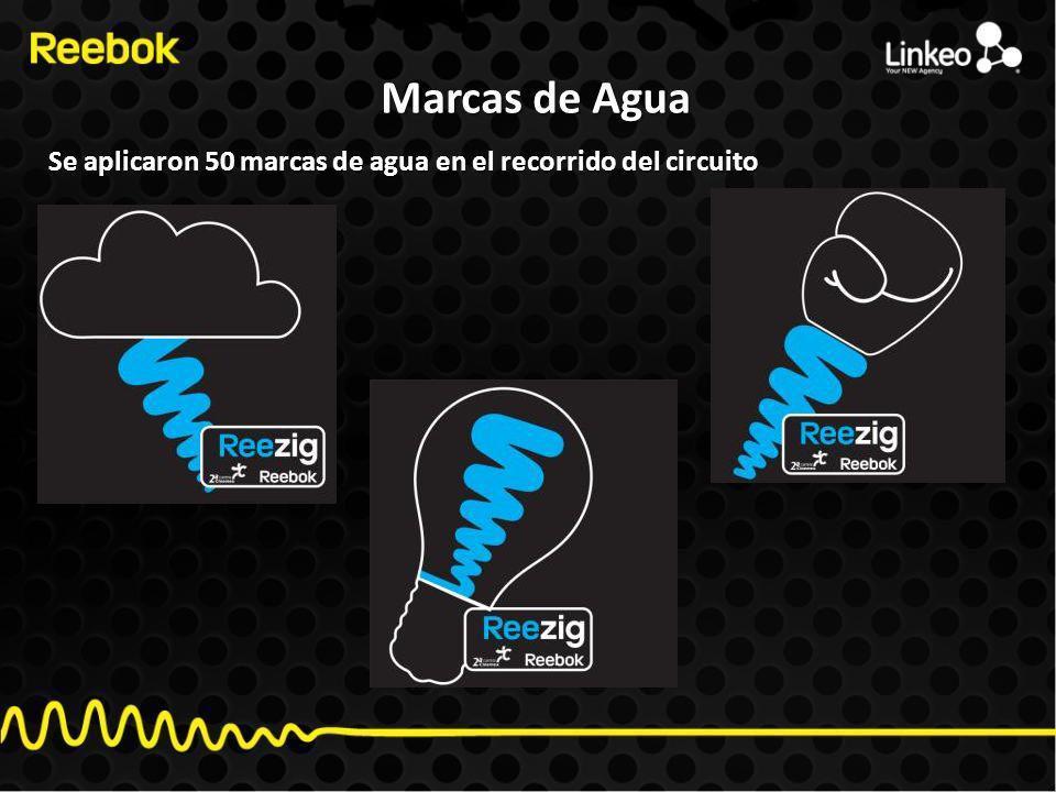 Marcas de Agua Se aplicaron 50 marcas de agua en el recorrido del circuito