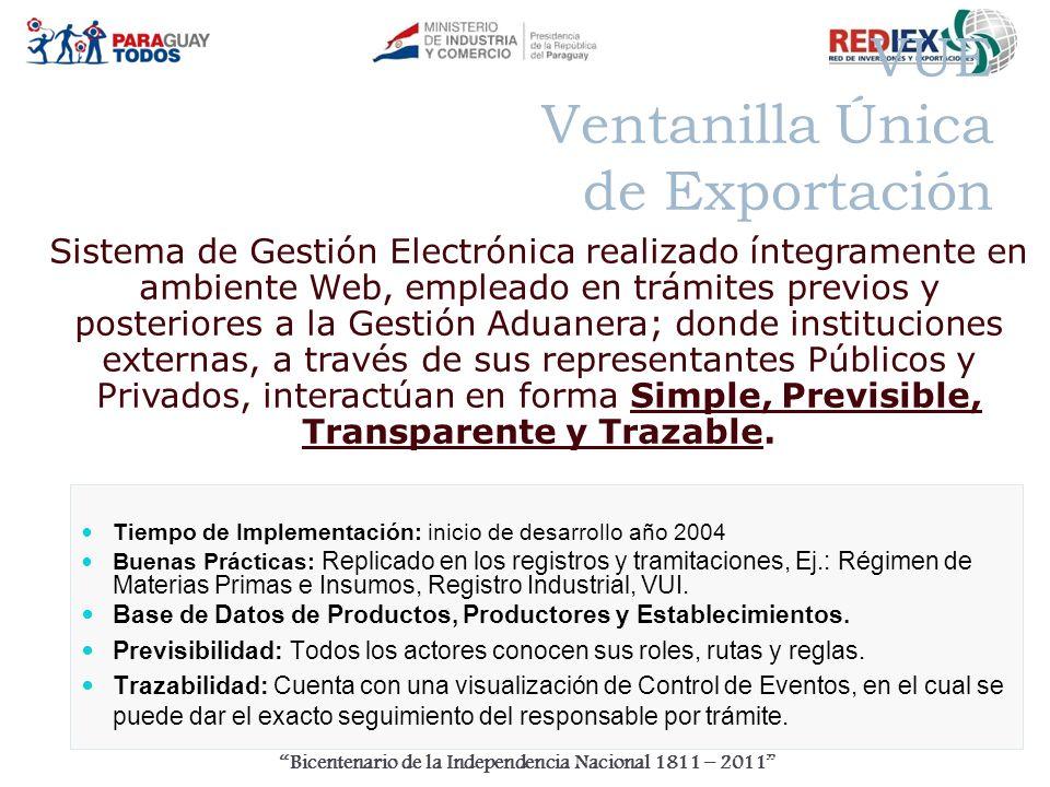 Bicentenario de la Independencia Nacional 1811 – 2011 Muchas Gracias! www.rediex.gov.py