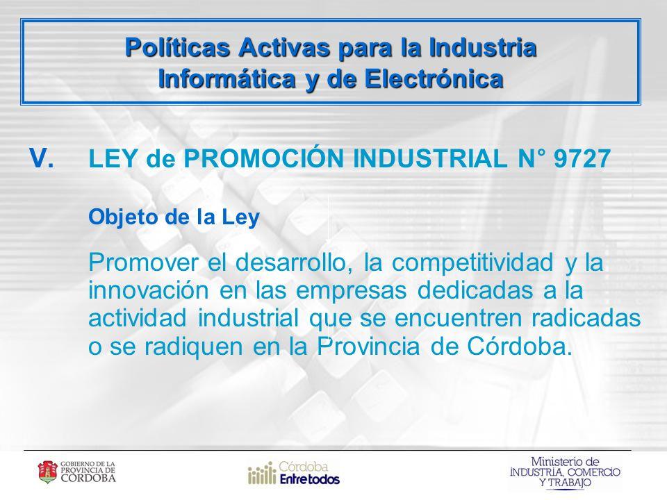 Políticas Activas para la Industria Informática y de Electrónica V.