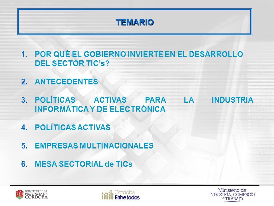 1.POR QUÉ EL GOBIERNO INVIERTE EN EL DESARROLLO DEL SECTOR TICs.