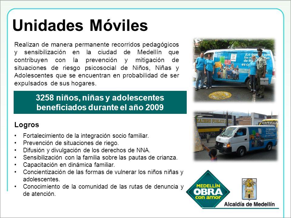 Unidades Móviles Realizan de manera permanente recorridos pedagógicos y sensibilización en la ciudad de Medellín que contribuyen con la prevención y m