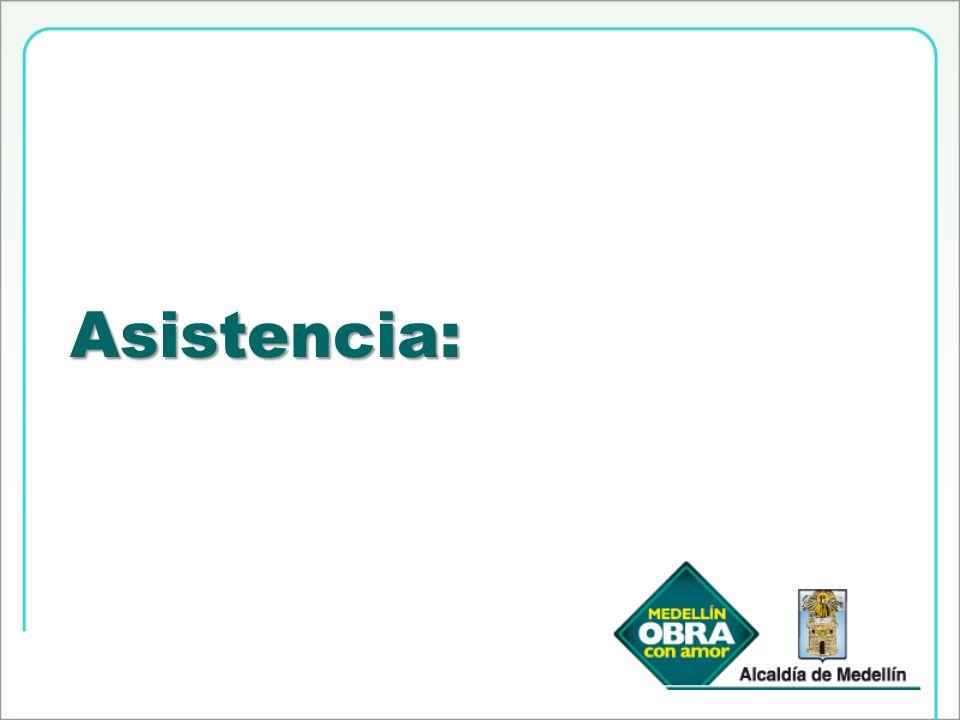 Asistencia: