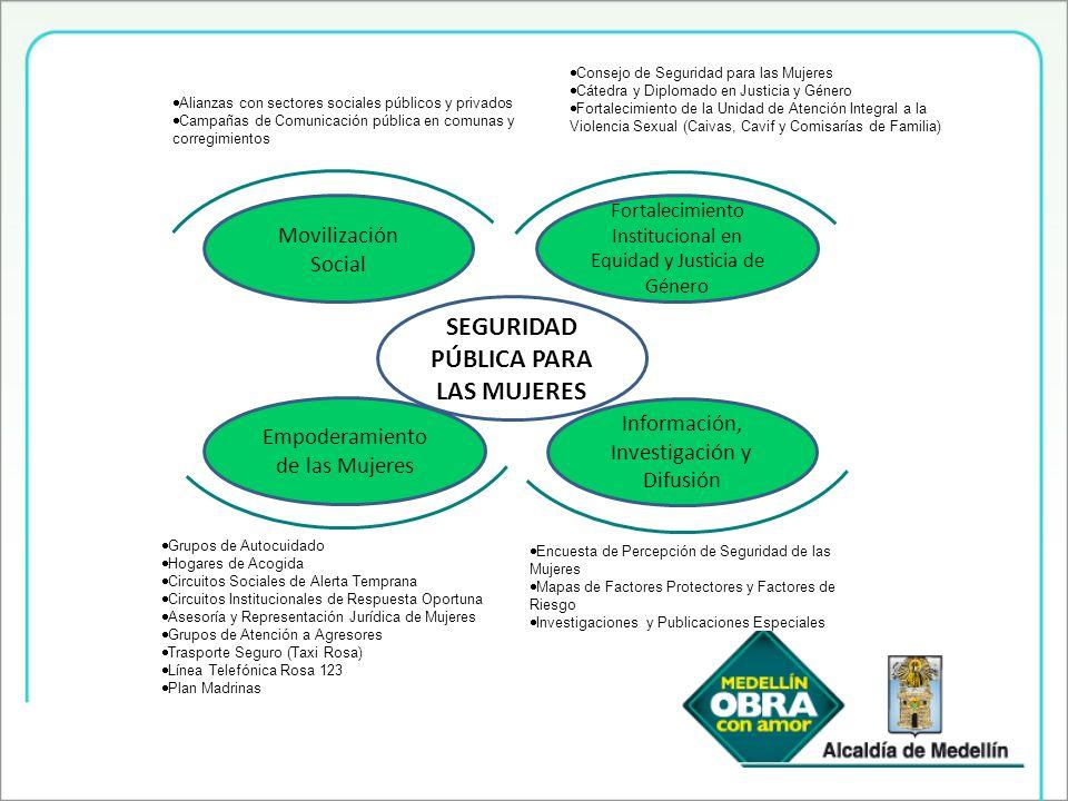 Grupos de Autocuidado Hogares de Acogida Circuitos Sociales de Alerta Temprana Circuitos Institucionales de Respuesta Oportuna Asesoría y Representaci