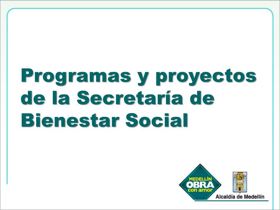Población beneficiada: Familias Medellín Solidaria SISBEN 1, 2 y 3.